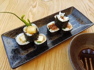 Teriyaki Tofu and Veef Coriander Sushi Rolls at Izakaya Midori