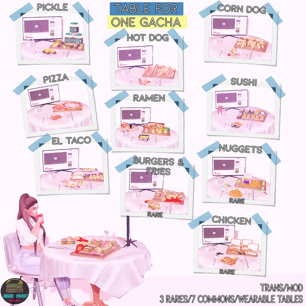 Junk Food – Table for 1 Gacha