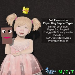 Presenting the new Full Perm Paper Bag Puppet from Jester Inc.