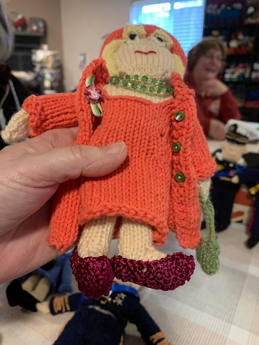 Victoria and a friend knit these from Fiona Goble's Knit Your Own Royal Wedding! Look at the detail!