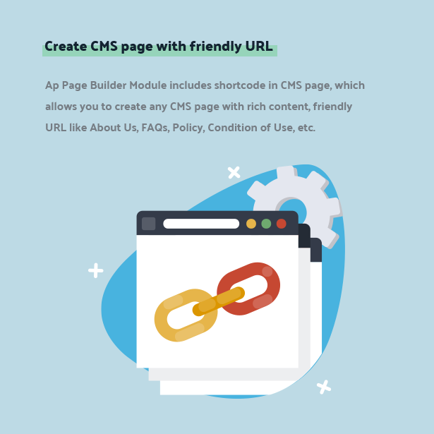 create cms page with friendly url