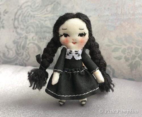 Miniature Wednesday Addams #2