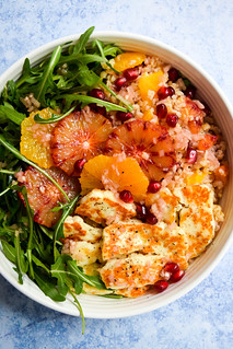 Winter Citrus, Bulgar Wheat & Grilled Halloumi Bowls | by missrachelphipps