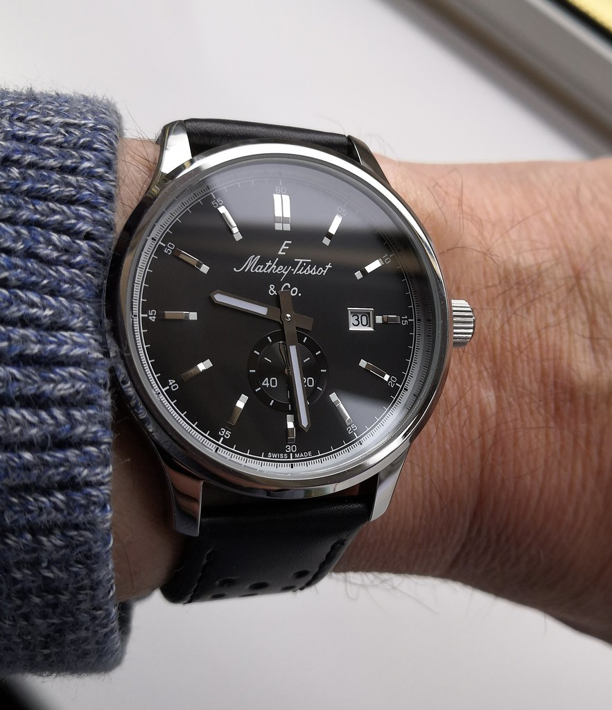 Mathey-Tissot Lord Collection Black  (Cal Ronda 1009)