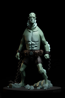 Fariboles Productions Hellboy Characters Artistic Collection 系列【魚人亞伯】Abe Sapien 1/8 比例全身雕像