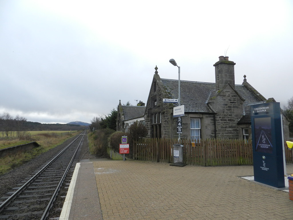 Newtonmore Railway Station, Newtonmore, Jan 2020