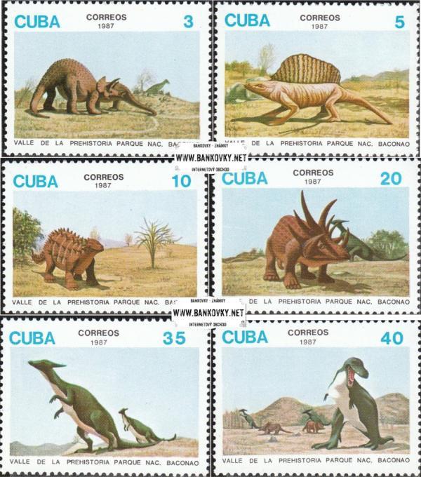 Známky Kuba 1987 Dinosaury