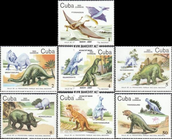 Známky Kuba Dinosaury 1985
