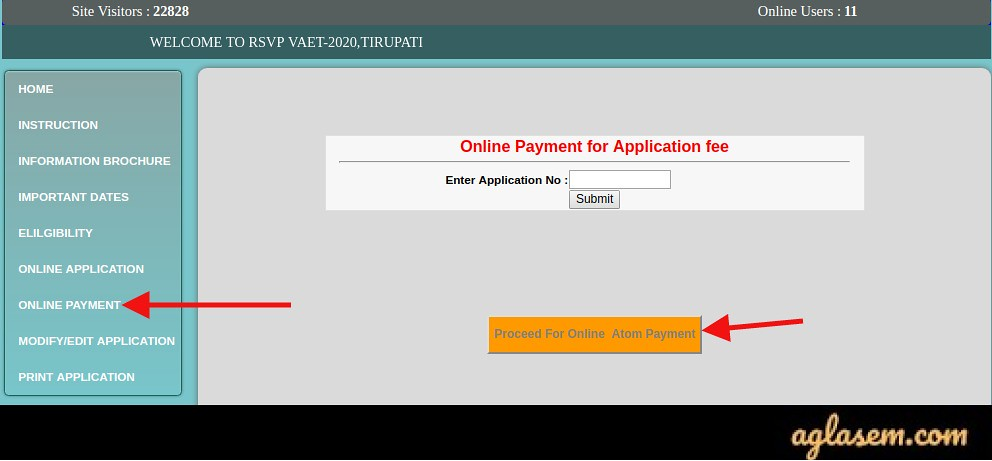 RSVPCET 2020 M.Phil (VAET) Online Application Form