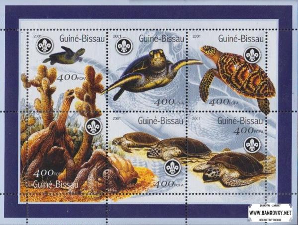 Známky Guinea Bissau 2001 Korytnačky