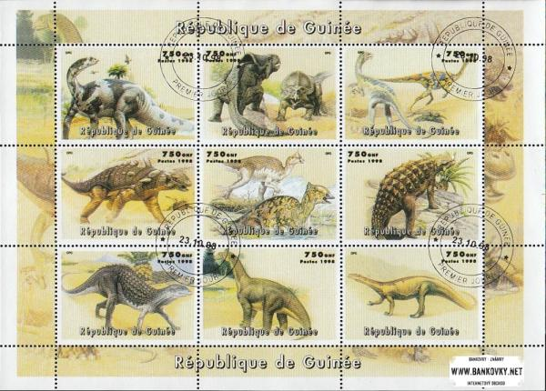 Známky Guinea 1998 Dinosaury