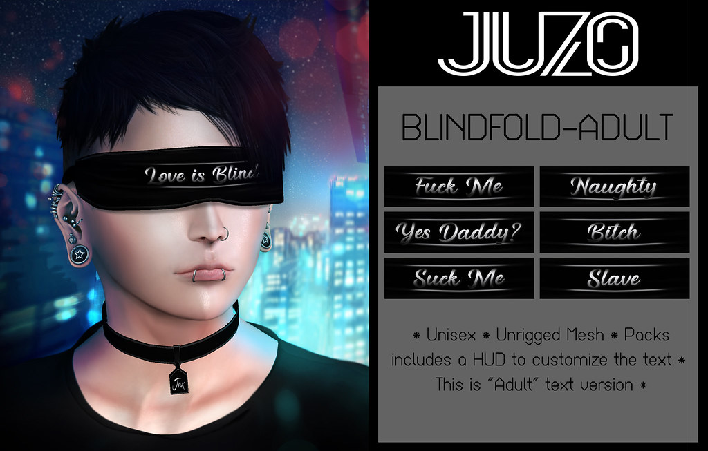 JUZO - Blindfold Series (Adult, Player, Love)