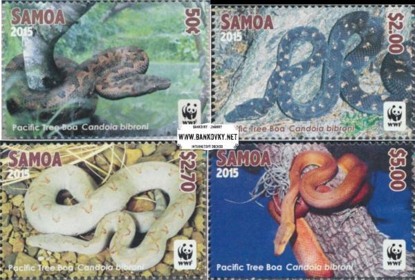 Známky Samoa 2015 Hady