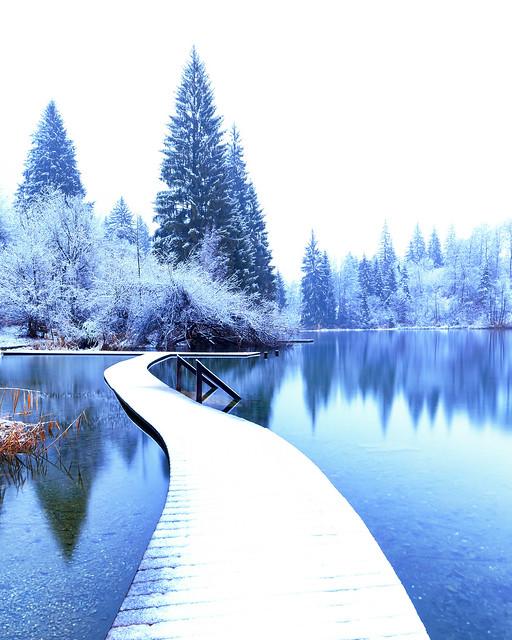 Fresh snow at the Lag la Cresta