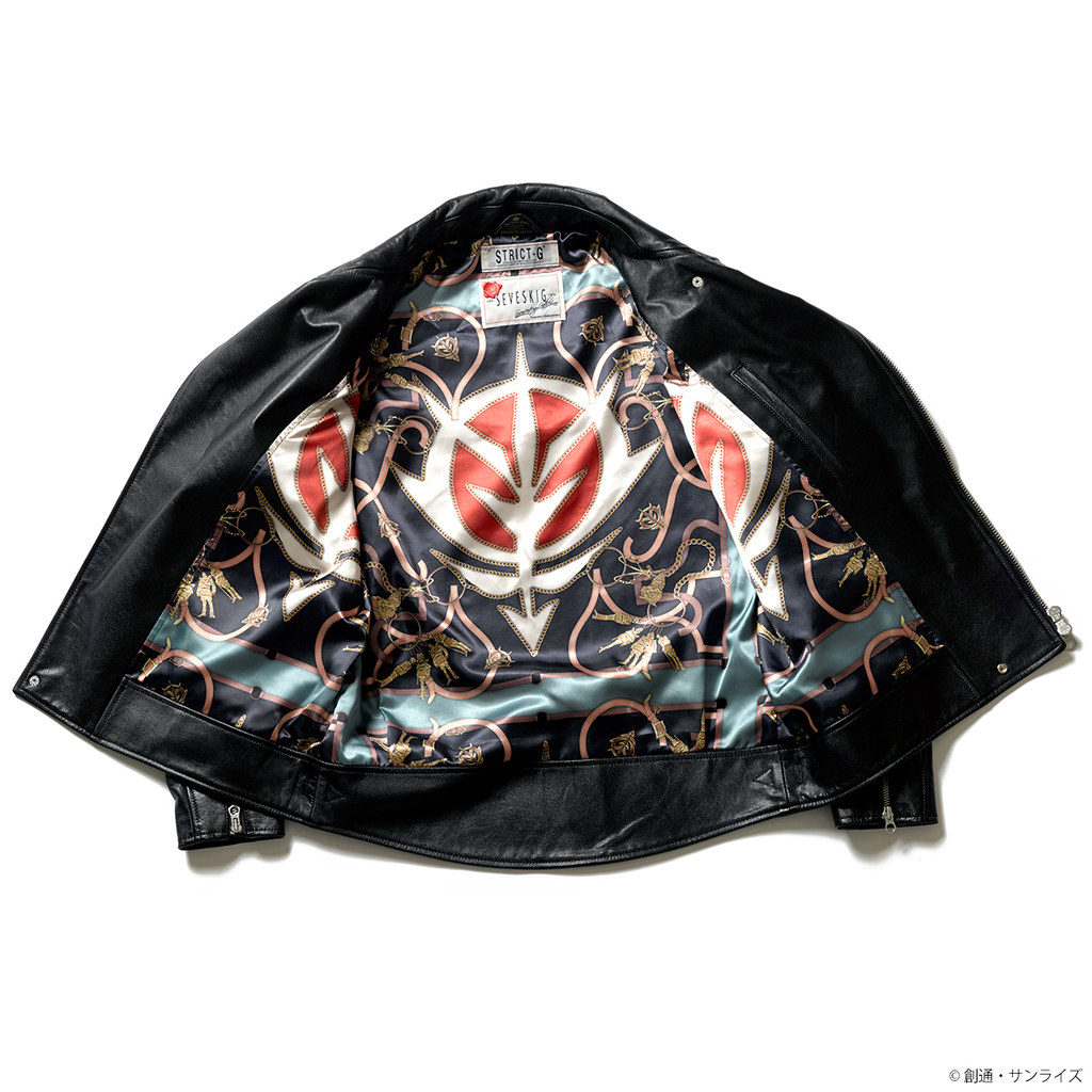 STRICT-G × SEVESKIG《機動戰士鋼彈》吉翁軍款 &夏亞款「騎士皮夾克」登場!(ライダースジャケット ジオン軍モデル&シャアモデル)
