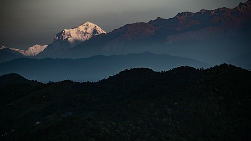 nepal dhaulagiri pokhara himalayas sunrise 8000m