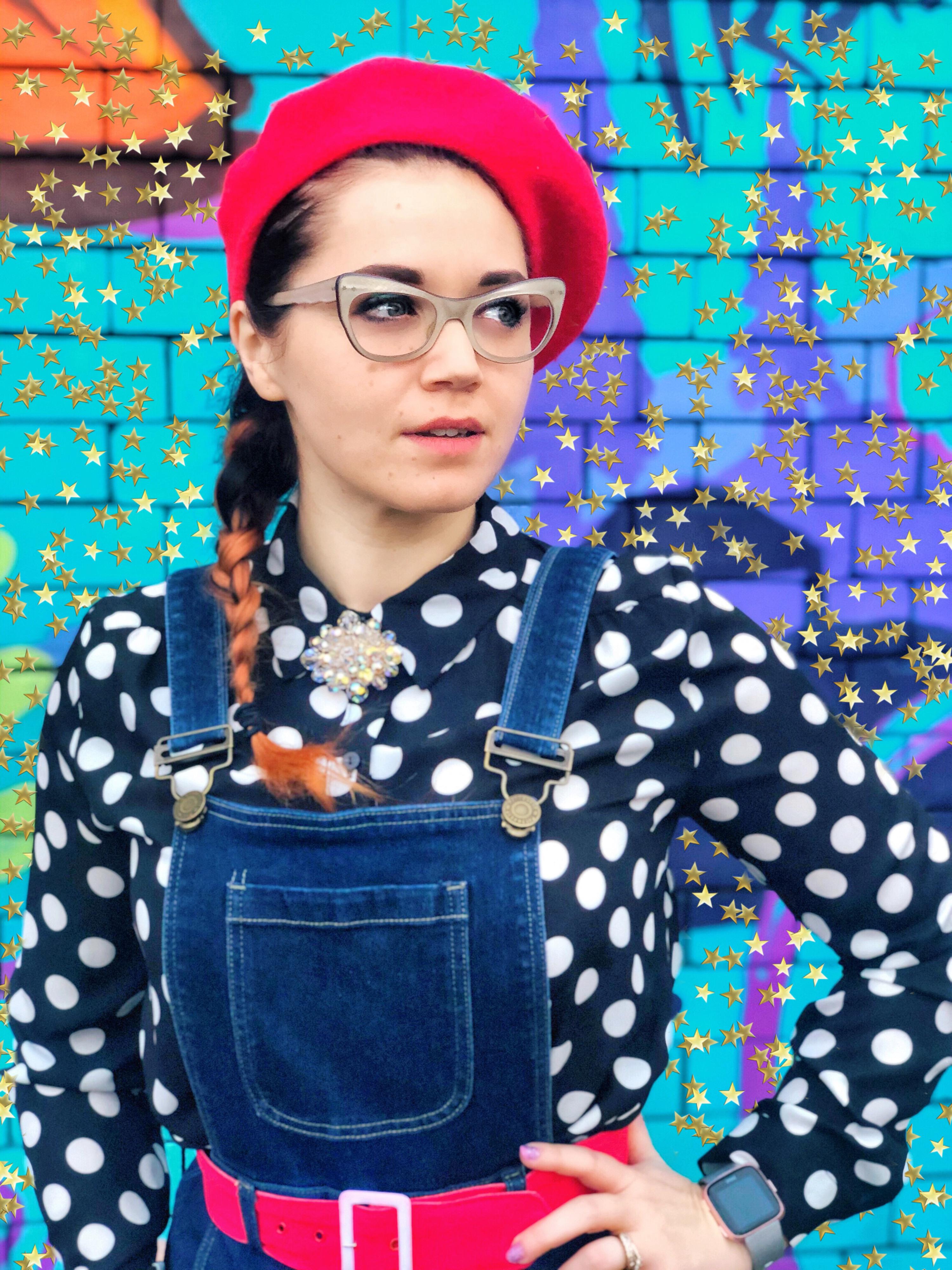 Vintage ootd polka dot trend spots