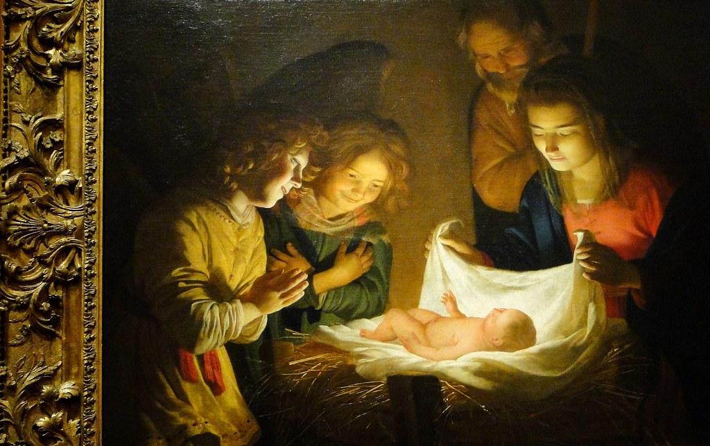 Adoration of the Christ Child by Gerrit van Honthorst, c. 1620