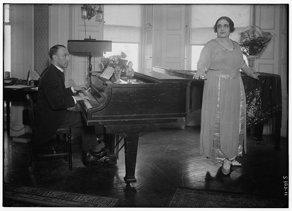 Koshetz and husband (LOC)