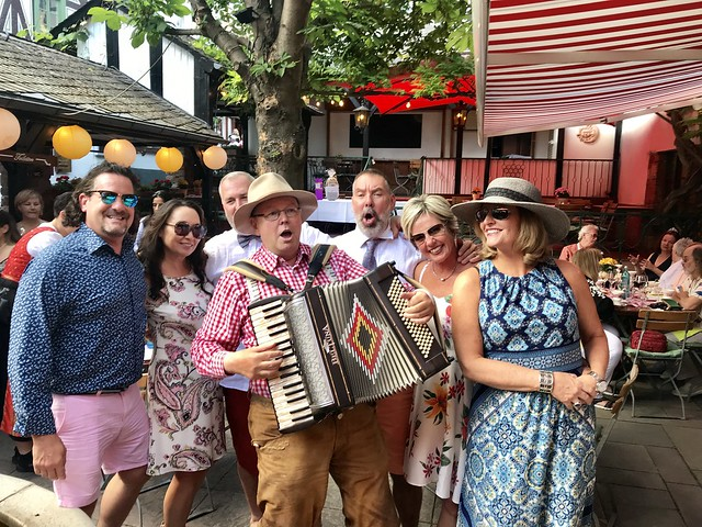 Party in Ruedesheim on the River Rhine in a Wine Garden - Germany 2019 - Lot of Joy