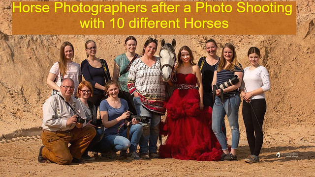 Photographers after a Horse Photo Shooting Day near Worms in Germany - 2019