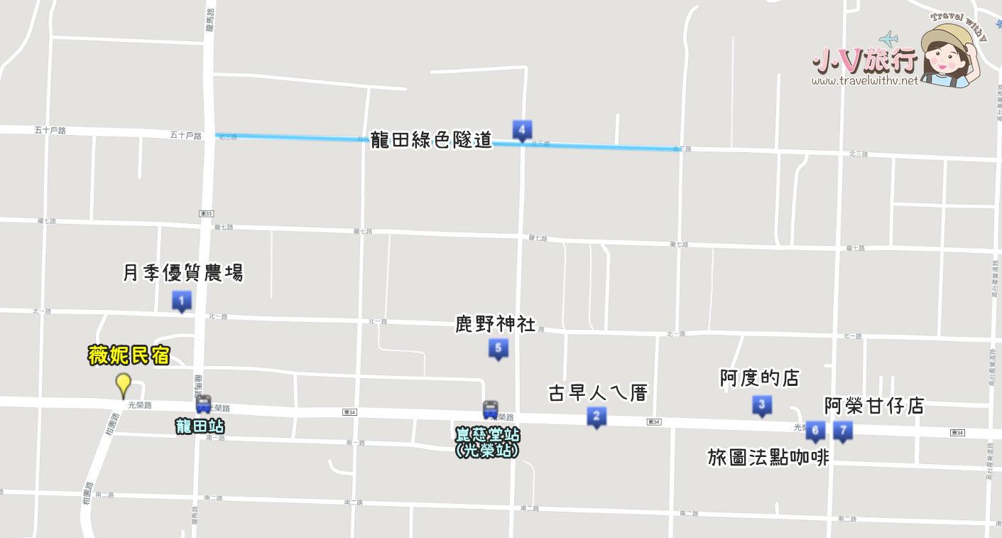 台東鹿野龍田村地圖