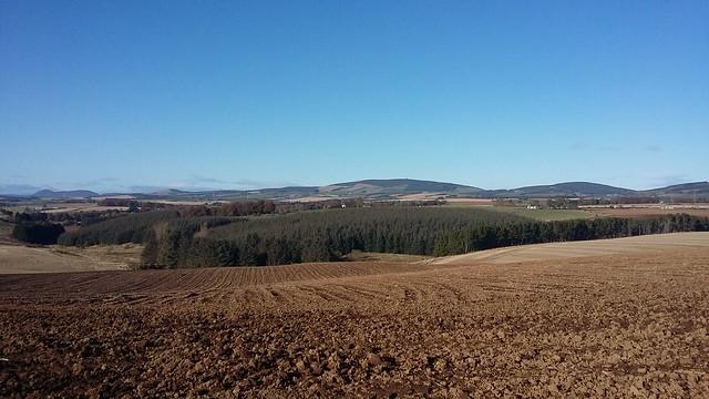 Farmland, Kirktown of Rayne, Aberdeenshire, Oct 2019