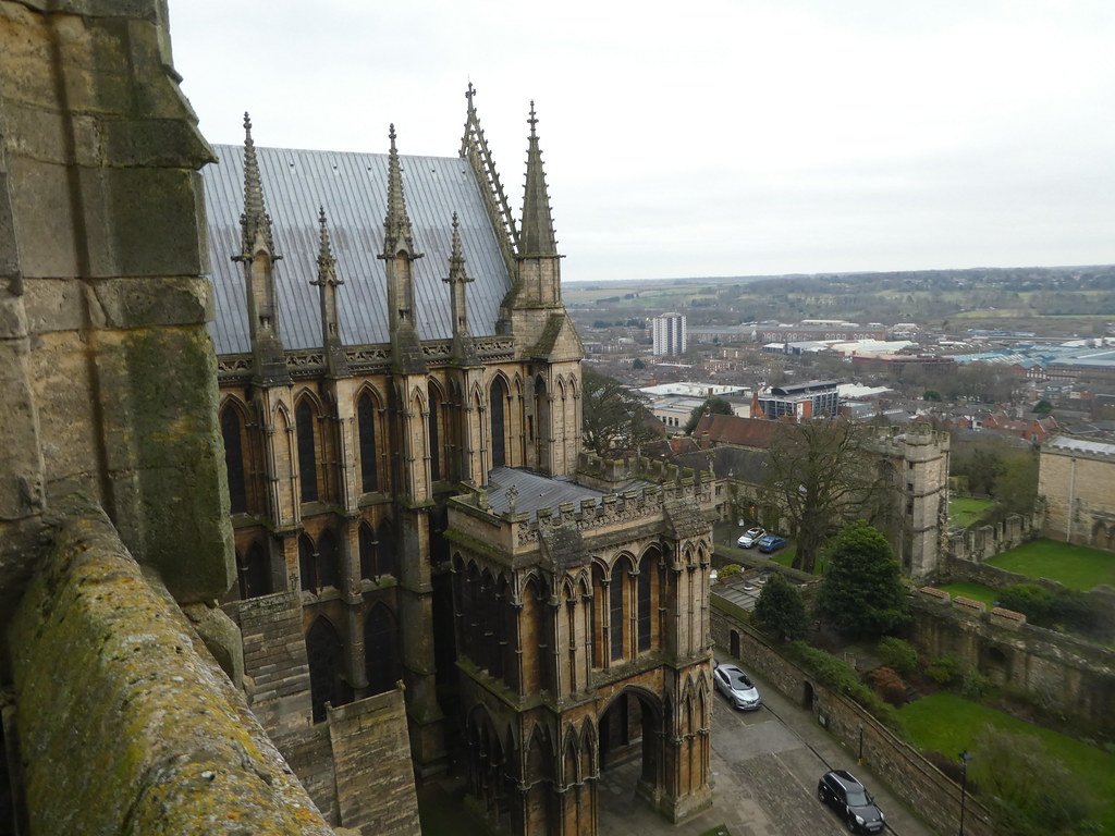 Lincoln Cathedral rooftop view
