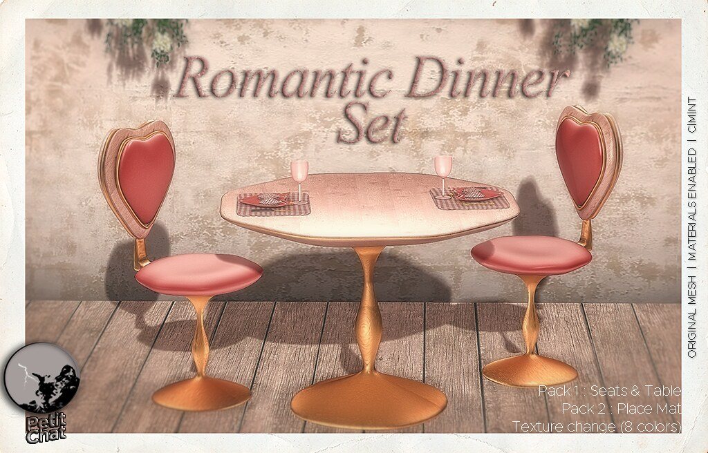 Mainstore Release : Romantic Dinner Set