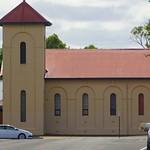 Penola. St Joseph's Catholic Church  built in 1924.  On the site of the town's first Catholic Church built in 1859.