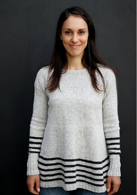 Joji Locatelli's Trevor is a basic pullover with flare and stripes!