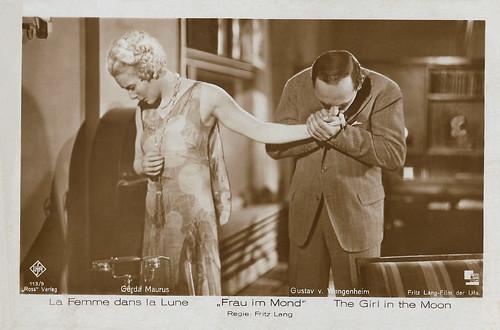 Gerda Maurus and Gustav von Wangenheim in Frau im Mond (1929)