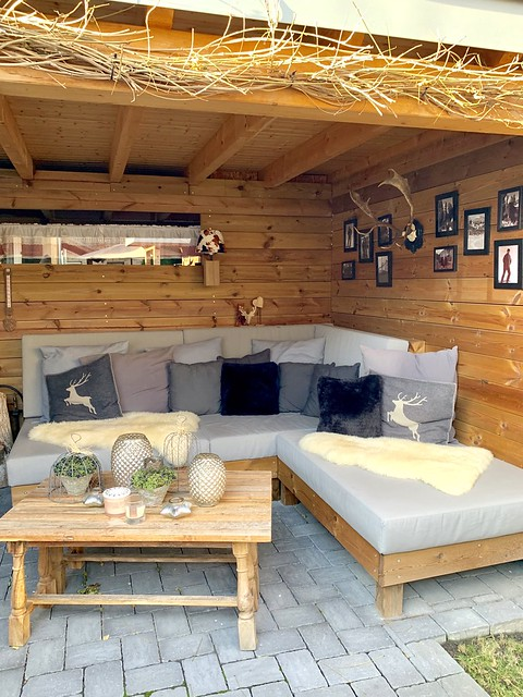 loungebank veranda hout