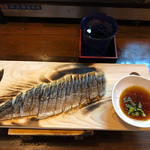 Well-seared pickled mackerel