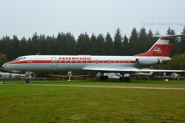 DDR-SCK : Tupolev Tu-134AK at Hermeskeil.