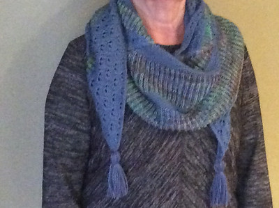 Ann's Up the Creek MKAL by Cozy Up Knits shawl
