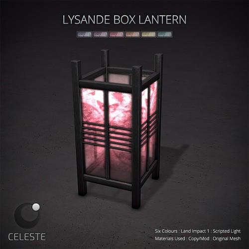 CELESTE - Lysande Box Lantern