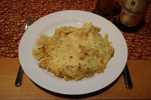 Sauerkraut-Nudel-Käse-Auflauf (meine Portion)