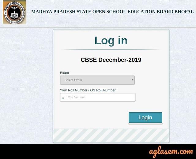 MP CBSE On Demand 12th Result December 2019