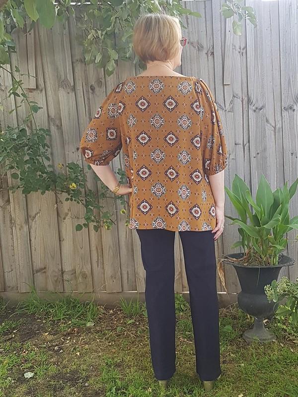 modified Tessuti Hilary top in Spotlight rayon