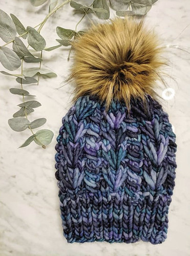 Veronica (xovee.knits) newest hat knit using Malabdigo Rasta!