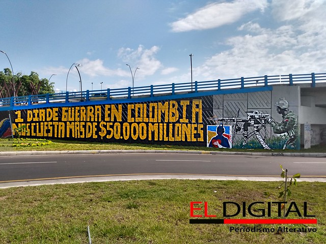 Mural realizado en el intercambiador vial.