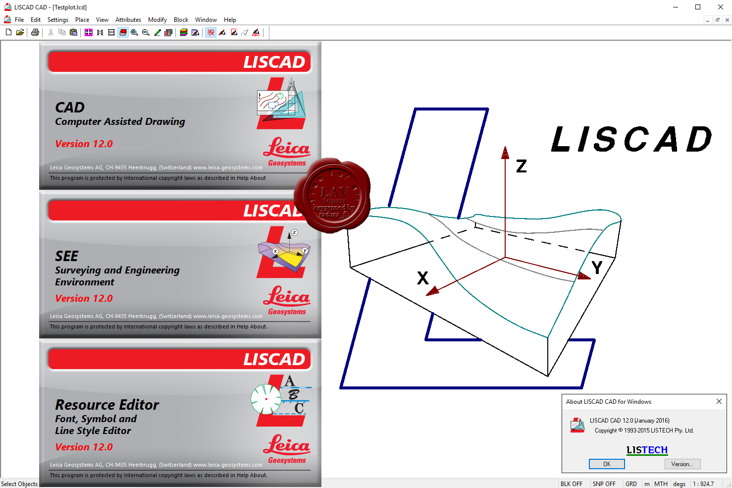 Working with Leica LISCAD 12.0 full license forever