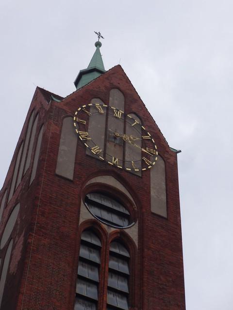 1905/07 Berlin Uhr neogotische Reformationskirche von Ernst Schwartzkopff/August Dinklage/Ernst Paulus in Backstein 50mH Beusselstraße 35 in 10553 Moabit