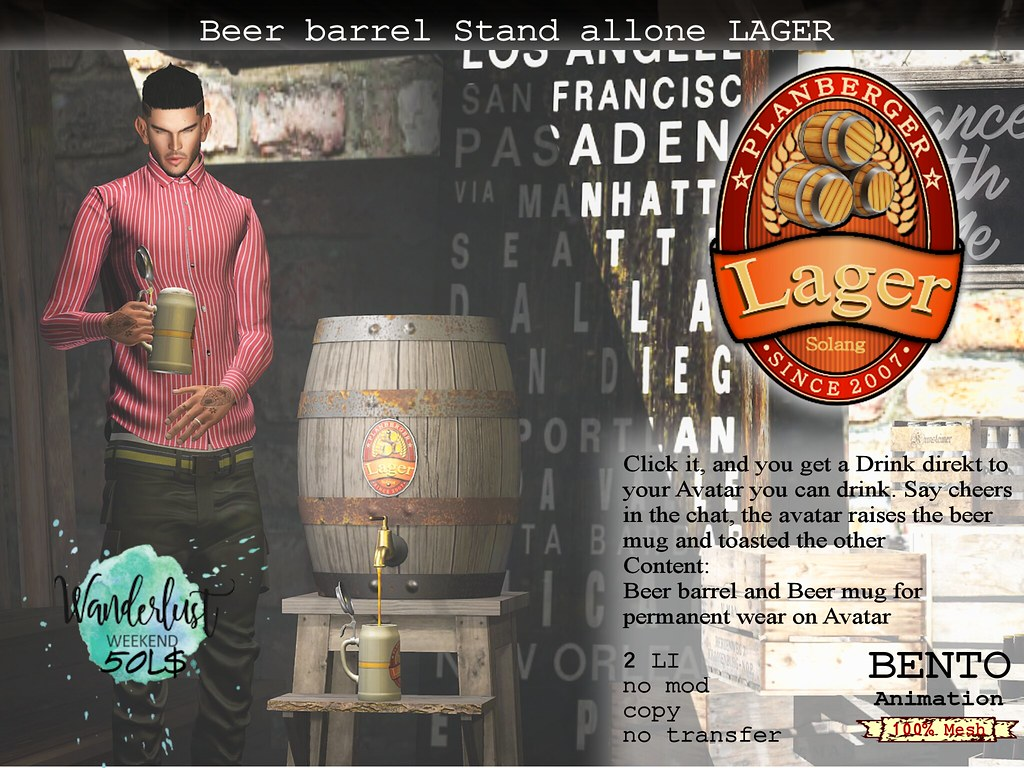 Beer barrel Stand LAGER for Wanderlust