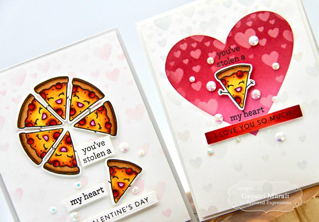 You've stolen a pizza my heart card set closeup