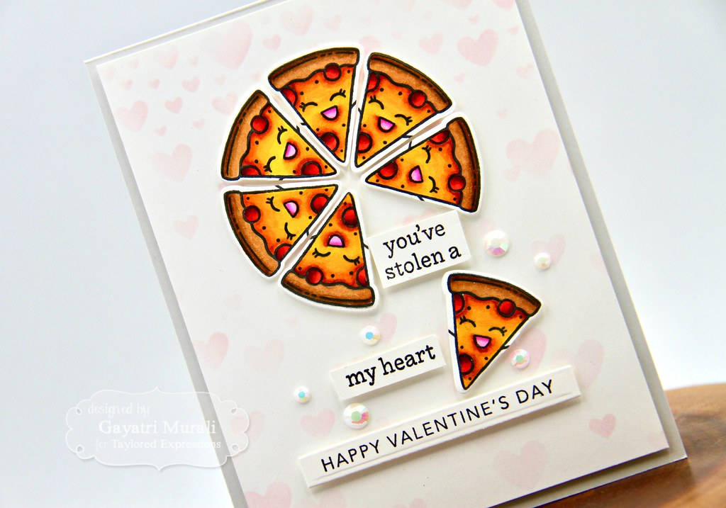 You've stolen a pizza my heart card #1 closeup3