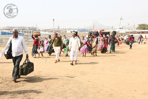 Arrival of devotees at Samagam Ground