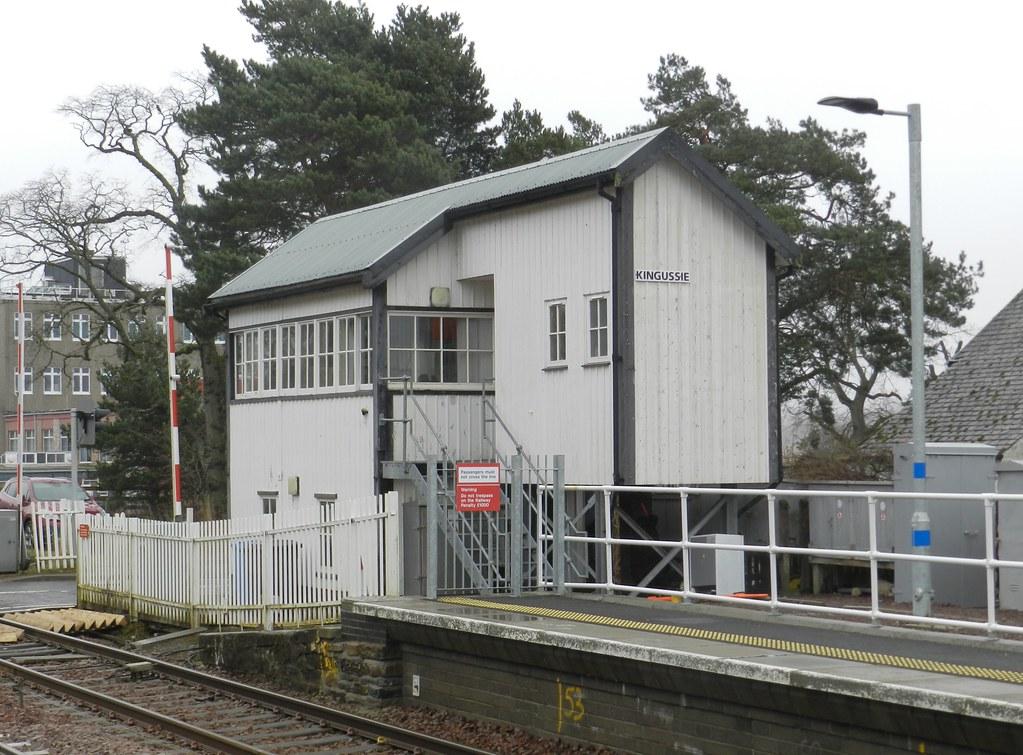 Kingussie Railway Station Signal Box, Kingussie, Jan 2020