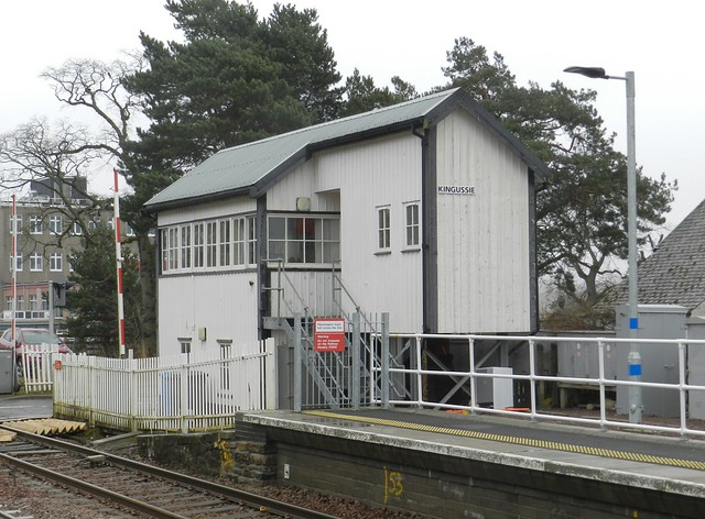 Kingussie Railway Station Signal Box, Kingussie, Jan 2020